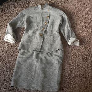 Christian Dior blazer and skirt set vintage